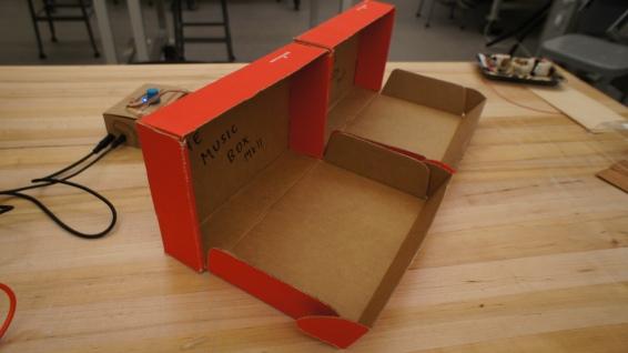 Boxes open