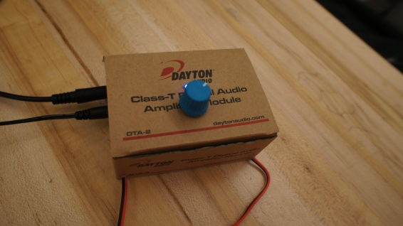Has integrated volume knob and LED